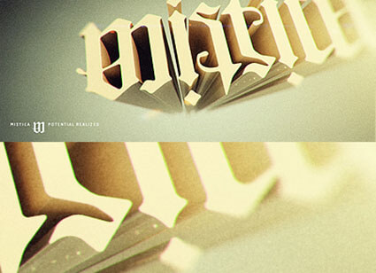 Mistica Free Ambigram generator and Example