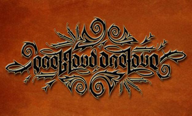 one blood Free Ambigram