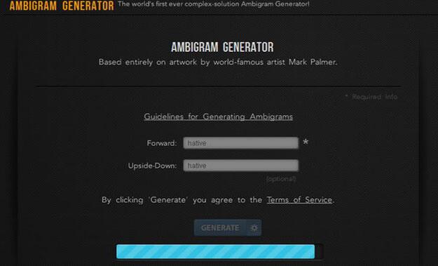 wowtattoos Free Ambigram generator and Example