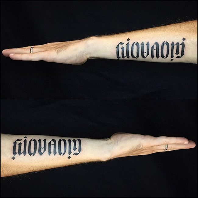 hands ambigram tatoos 6