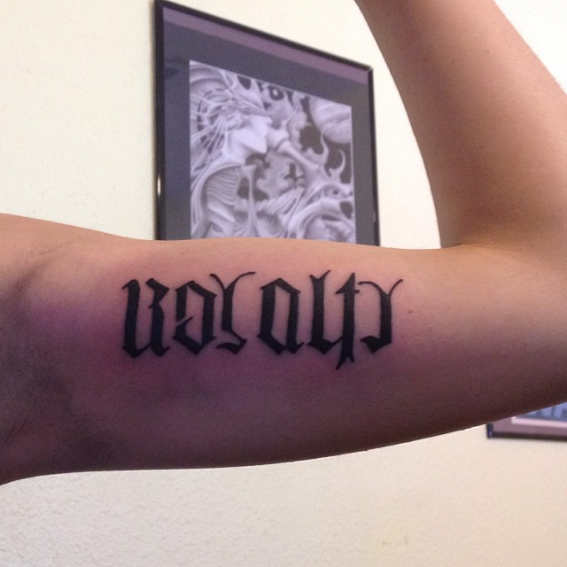 man ambigram tatoos 1