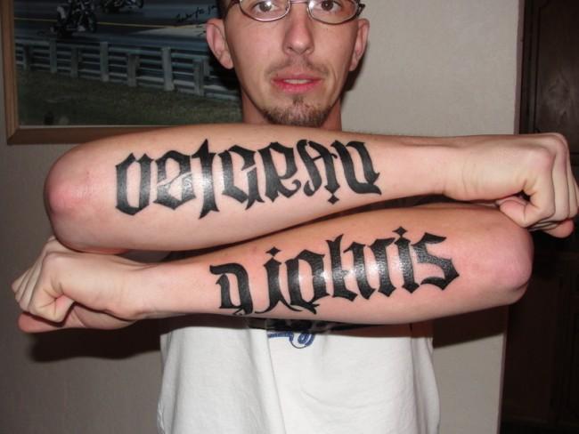 man ambigram tatoos 2