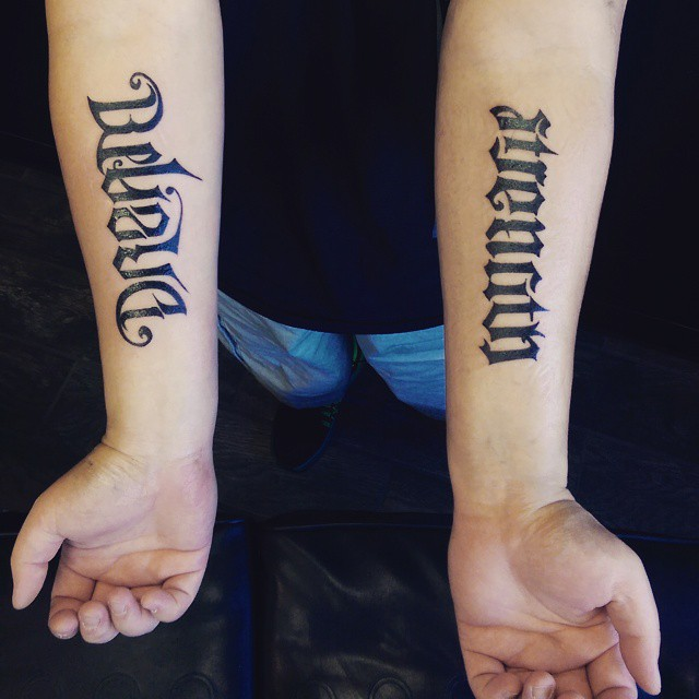 man ambigram tatoos 6
